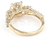 White Cubic Zirconia 10K Yellow Gold Ring 4.96ctw (2.78ctw DEW)