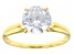 White Cubic Zirconia 1k Yellow Gold Ring 2.97ctw