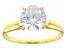 White Cubic Zirconia 1k Yellow Gold Ring 2.97ctw