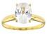 White Cubic Zirconia 1k Yellow Gold Ring 2.88ctw