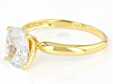 White Cubic Zirconia 1k Yellow Gold Ring 2.88ctw