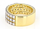 White Cubic Zirconia 1k Yellow Gold Ring 3.70ctw