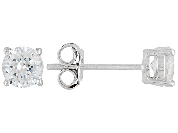 Picture of Bella Luce® 1.80ctw 5mm Round Rhodium Over Sterling Silver Stud Earrings