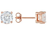 Bella Luce® 4.50ctw 7mm Round 18k Rose Gold Over Sterling Silver Stud Earrings