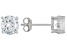 Bella Luce® 4.50ctw 7mm Round Rhodium Over Sterling Silver Stud Earrings