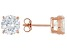 Bella Luce® 7.20ctw 8mm Round 18k Rose Gold Over Sterling Silver Stud Earrings
