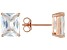 Bella Luce® 7.20ctw 9x7mm Emerald Cut 18k Rose Gold Over Sterling Silver Stud Earrings