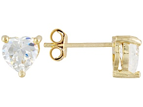 Bella Luce 3.6ctw Cubic Zirconia 18kt Gold Over Silver   Stud Earrings
