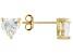 Bella Luce 3.6ctw Cubic Zirconia 18kt Gold Over Silver   Stud Earrings