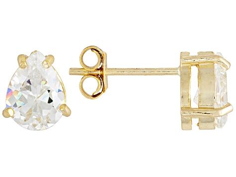 be9df361e Bella Luce® 2.75ctw 8x6mm Pear Shape 18k Yellow Gold Over Sterling Silver  Stud Earrings - BLI012Y | JTV.com