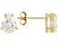 Bella Luce® 2.75ctw 8x6mm Pear Shape 18k Yellow Gold Over Sterling Silver Stud Earrings