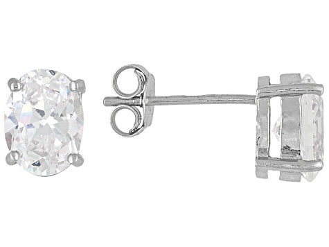 e1f668968 Bella Luce 3ctw Oval Cubic Zirconia Sterling Silver Solitaire Stud Earrings  - BLI015W | JTV.com