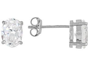 Bella Luce 3ctw Oval Cubic Zirconia Sterling Silver Solitaire Stud Earrings
