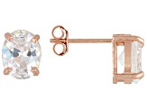 Bella Luce 7ctw Oval Cubic Zirconia 18k Rose Gold Over Silver Stud Earrings