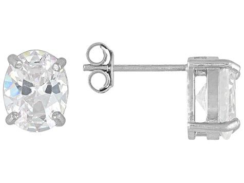 1e96f2b20 Bella Luce 7ctw Oval Cubic Zirconia Sterling Silver Solitaire Stud Earrings  - BLI016W | JTV.com