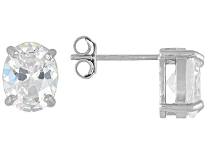 Bella Luce 7ctw Oval Cubic Zirconia Sterling Silver Solitaire Stud Earrings