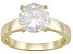 Bella Luce® 3.60ct Round 18k Yellow Gold Over Sterling Silver Solitaire Ring
