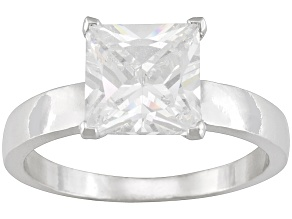Bella Luce4.5ctw White Cubic Zirconia Sterling Silver Solitaire Ring