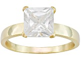 Bella Luce® 4.50ct 18k Yellow Gold Over Sterling Silver Solitaire Ring