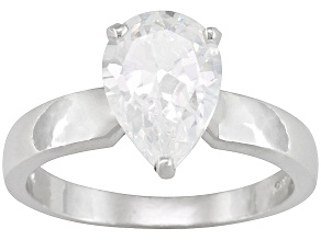 Bella Luce3.6ctw White Cubic Zirconia Sterling Silver Solitaire Ring