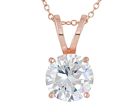 Bella Luce ® 7.20ct Solitaire 18k Rose Gold Over Sterling Silver Pendant With 18