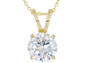 Bella Luce ® 7.20ct Solitaire 18k Yellow Gold Over Sterling Silver Pendant With 18