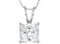 Bella Luce ® 9.00ct Princess Cut Solitaire Rhodium Over Sterling Silver Pendant With 18