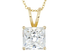 Bella Luce 9ctw Princess Cut Cubic Zirconia 18kt Gold Over Silver   Necklace