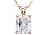 Bella Luce 5.4ctw Cubic Zirconia 18kt Rose Gold Over Silver   Necklace