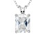Bella Luce 5.4ctw Emerald Cut Cubic Zirconia Sterling Silver   Necklace