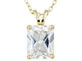 Bella Luce 5.4ctw Emerald Cut Cubic Zirconia 18kt Gold Over Silver   Necklace