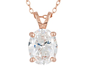 Bella Luce 5.4ctw Oval Cubic Zirconia 18kt Rose Gold Over Silver   Necklace