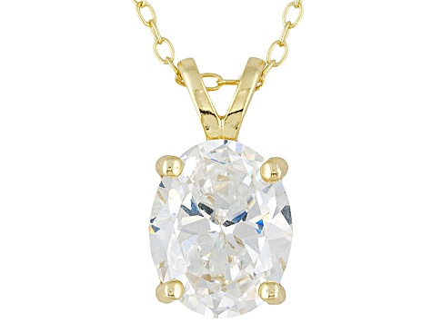 Bella Luce 5.4ctw Oval Cubic Zirconia 18kt Gold Over Silver   Pendant Necklace