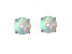 Bella Luce ® .90ctw Lab Created Opal Rhodium Over Sterling Silver Earrings