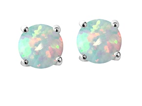 Bella Luce ® 7.00ctw Lab Created Opal Rhodium Over Sterling Silver Earrings