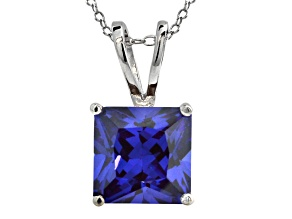 Bella Luce ® 9.60ct Rhodium Over Sterling Silver Pendant With 18 inch Chain