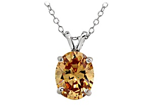 Bella Luce ® 4.35ct Rhodium Over Sterling Silver Pendant With 18 inch Chain
