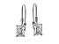 White Cubic Zirconia Sterling Silver Solitaire Earrings 3.65ctw
