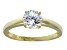 Bella Luce 2.06ct 18k Yellow Gold Over Sterling Silver Solitaire Ring