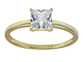 Bella Luce 2.00ct 18k Yellow Gold Over Sterling Silver Solitaire Ring