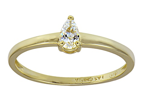 Bella Luce .45ct 18k Yellow Gold Over Sterling Silver Solitaire Ring