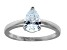 Bella Luce 1.38ct Pear Shape Rhodium Over Sterling Silver Solitaire Ring