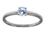 Bella Luce .75ct Round Rhodium Over Sterling Silver Solitaire Ring
