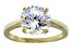 Bella Luce 6.25ct 18k Yellow Gold Over Sterling Silver Solitaire Ring