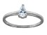Bella Luce .64ct Pear Shape Rhodium Plated Sterling Silver Solitaire Ring