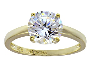 Bella Luce 4.45ct 18k Yellow Gold Over Sterling Silver Solitaire Ring