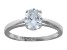 Bella Luce 1.95ct Oval Rhodium Over Sterling Silver Solitaire Ring