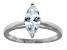 Bella Luce 1.54ct Marquise Rhodium Plated Sterling Silver Solitaire Ring