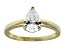 Bella Luce 1.36ct 18k Yellow Gold Over Sterling Silver Solitaire Ring