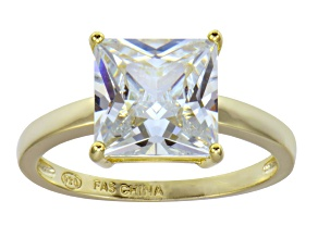 Bella Luce 6.65ct 18k Yellow Gold Over Sterling Silver Solitaire Ring